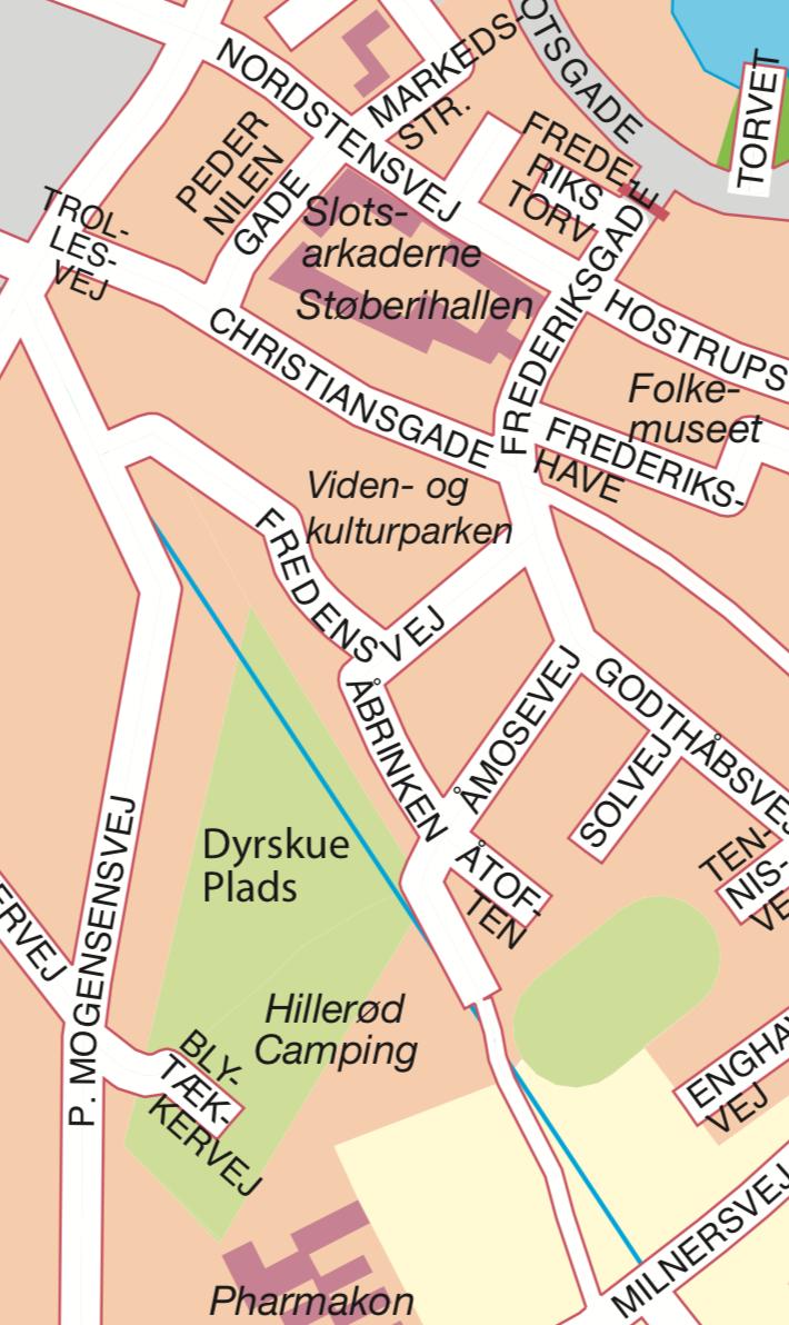 Hillerød Camping - kort